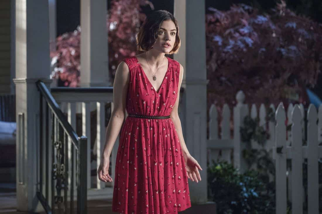 """Life Sentence -- """"Re-Inventing the Abbotts"""" -- Image Number: LFS102c_0345b.jpg -- Pictured: Lucy Hale as Stella -- Photo: Jack Rowand/The CW -- © 2018 The CW Network, LLC. All Rights Reserved."""