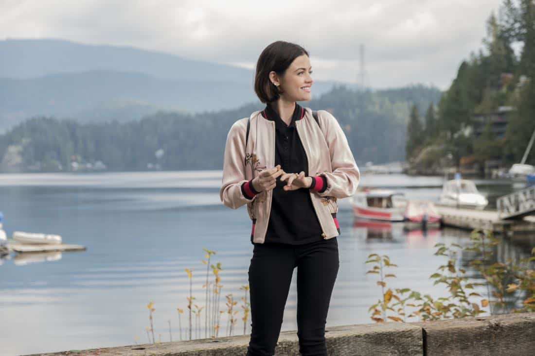 """Life Sentence -- """"Re-Inventing the Abbotts"""" -- Image Number: LFS102d_0082b.jpg -- Pictured: Lucy Hale as Stella -- Photo: Bettina Strauss/The CW -- © 2018 The CW Network, LLC. All Rights Reserved."""