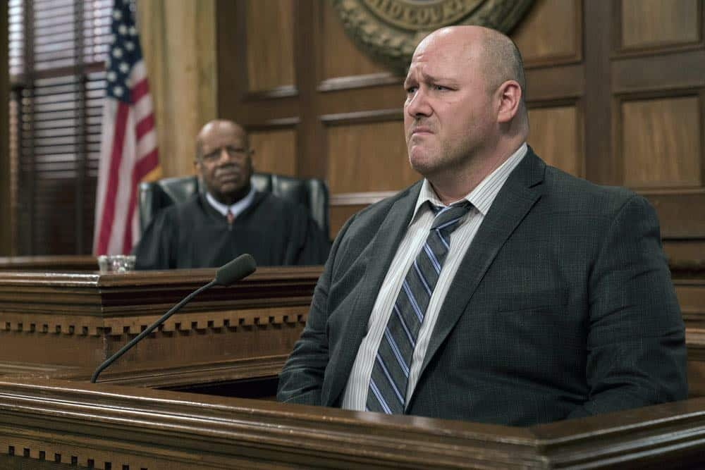 "LAW & ORDER: SPECIAL VICTIMS UNIT -- ""Send in the Clowns"" Episode 1917 -- Pictured: Will Sasso as Chris Sadler -- (Photo by: David Giesbrecht/NBC)"