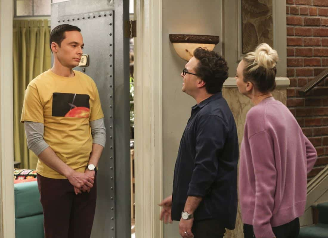 """The Tenant Disassociation"" - Pictured: Sheldon Cooper (Jim Parsons). When Leonard learns Sheldon is the president of the tenants association, he decides to run against him. Also, Bernadette encourages Wolowitz and Koothrappali to find the owner of a drone after they find it in the backyard, on THE BIG BANG THEORY, Thursday, April 5 (8:00-8:31 PM, ET/PT) on the CBS Television Network. Photo: Michael Yarish/Warner Bros. Entertainment Inc. © 2018 WBEI. All rights reserved."