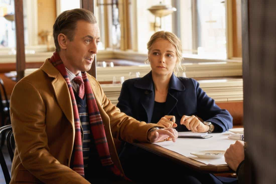 """Pilot""-- Former CIA operative Dr. Dylan Reinhart (Alan Cumming) is lured back to his old life when NYPD detective Lizzie Needham (Bojana Novakovic) needs his help to stop a serial killer, on the series premiere of INSTINCT, Sunday, March 18 (8:00-9:00, ET/PT) on the CBS Television Network. Pictured (l-r) Alan Cumming as Dr. Dylan Reinhart and Bojana Novakovic as Det. Lizzie Needham Photo: Jonathan Wenk /CBS © 2017 CBS Broadcasting Inc. All Rights Reserved."