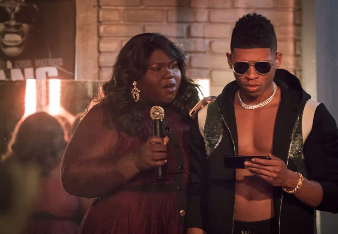 "EMPIRE: Pictured L-R: Gabourey Sidibe and Bryshere Gray in the ""Birds in the Cage"" Spring premiere episode of EMPIRE airing Wednesday, March 28 (8:00-9:00 PM ET/PT) on FOX. ©2018 Fox Broadcasting Co. CR: Chuck Hodes/FOX"