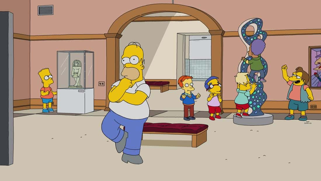 "THE SIMPSONS: When Homer is accused of stealing a million-dollar painting, only a detective from the 1970s can clear his name, or send him to jail. It's a classic impossible mystery in the all-new ""Homer Is Where The Art Isn't"" episode of THE SIMPSONS airing Sunday, March 11, (8:00-8:30 PM ET/PT) on FOX. THE SIMPSONS ™ and © 2017 TCFFC ALL RIGHTS RESERVED."