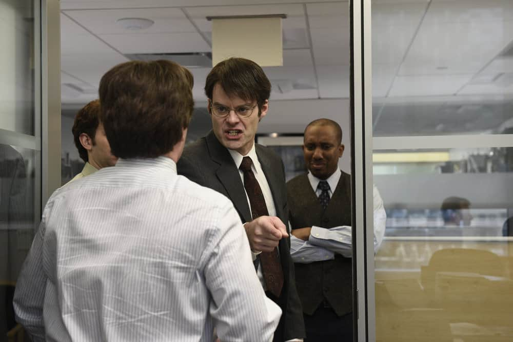 """SATURDAY NIGHT LIVE -- Episode 1741 """"Bill Hader"""" -- Pictured: (l-r) Bill Hader, Chris Redd during """"New Office Product"""" in Studio 8H on Saturday, March 17, 2018 -- (Photo by: Kailey Fellows/NBC)"""