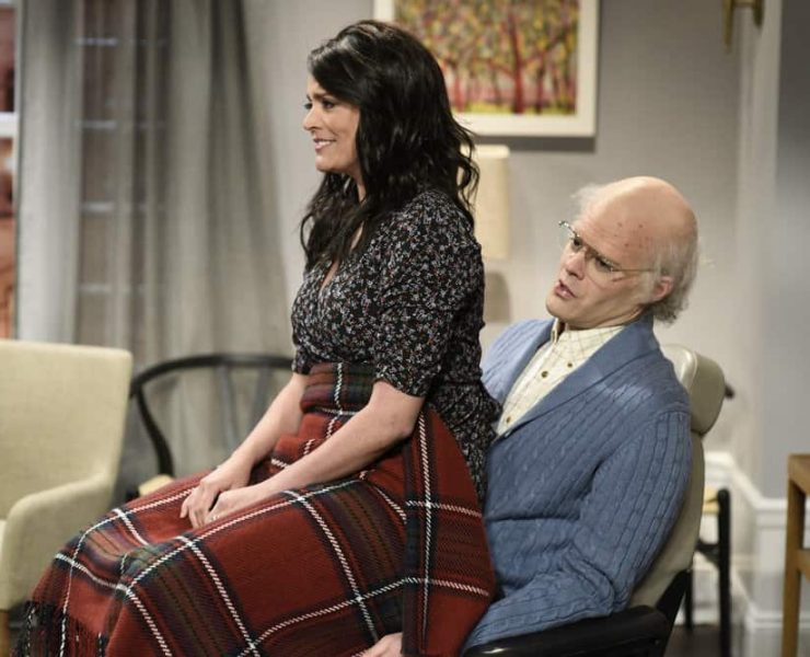 """SATURDAY NIGHT LIVE -- Episode 1741 """"Bill Hader"""" -- Pictured: (l-r) Cecily Strong as Jeanie, Bill Hader as Horace during """"Game Night"""" in Studio 8H on Saturday, March 17, 2018 -- (Photo by: Will Heath/NBC)"""