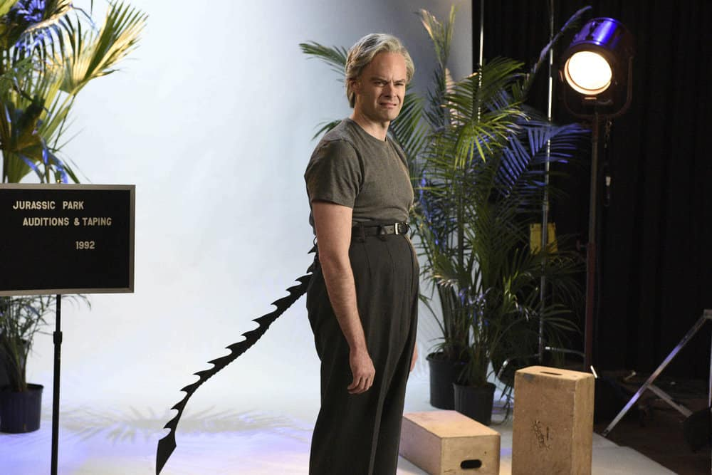 """SATURDAY NIGHT LIVE -- Episode 1741 """"Bill Hader"""" -- Pictured: Bill Hader as Clint Eastwood during """"Jurassic Park Auditions"""" on Saturday, March 17, 2018 -- (Photo by: Alison Hale/NBC)"""