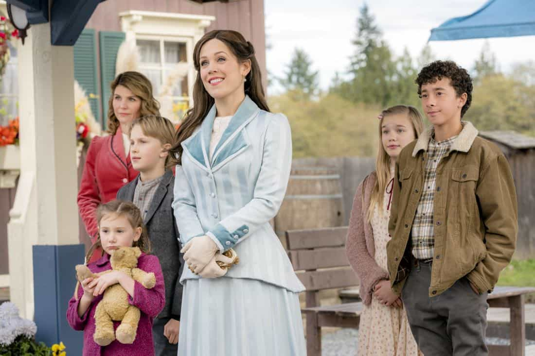 Premieres Sunday, March 25, 9/8c - Jack and Elizabeth's marriage is put to the test.  Pastor Frank and Abigail resolve the future of their relationship.  Bill helps a young girl solve a mystery.  Photo: Lori Loughlin, Carter Ryan Evancic, Ava Cooper, Erin Krakow, Kadence Roach, Jaiven Natt  Credit: Copyright 2018 Crown Media United States LLC/Photographer: Ricardo Hubbs