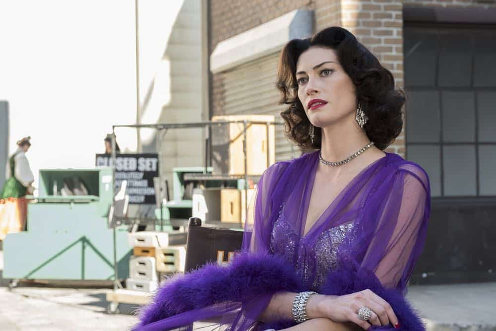 """TIMELESS -- """"Hollywoodland"""" Episode 203 -- Pictured: Alyssa Sutherland as Hedy Lamar -- (Photo by: Justin Lubin/NBC)"""