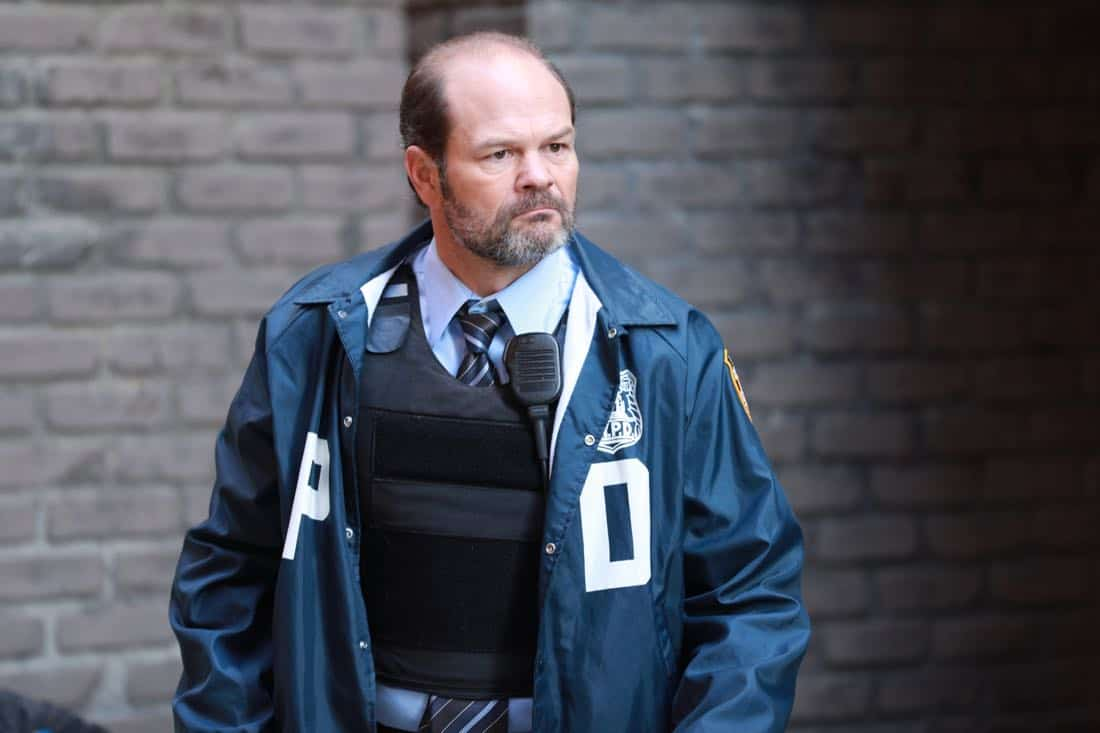 "BROOKLYN NINE-NINE: Guest star Chris Bauer in the ""The Negotiation"" episode of BROOKLYN NINE-NINE airing Sunday, March 25 (8:30-9:00 PM ET/PT) on FOX. CR: FOX"