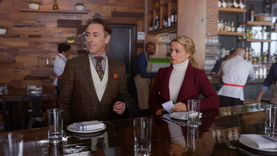 """Wild Game""-- Although Dylan has returned to teaching, Lizzie calls upon his expertise with profiling sociopaths to assist with a bizarre case in which a venture capitalist was murdered and his body ritualistically displayed, on INSTINCT, Sunday, March 25 (8:00-9:00, ET/PT) on the CBS Television Network. Pictured (L-R) Alan Cumming as Dr. Dylan Reinhart and Bojana Novakovic as Det. Lizzie Needham Photo: Best Possible Screen Grab/CBS ©2018 CBS Broadcasting, Inc. All Rights Reserved"