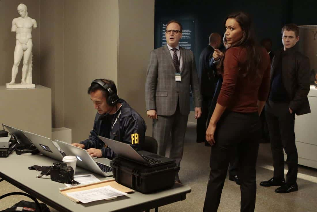 "DECEPTION - ""Escapology"" - When an art museum docent is held hostage, Kay enlists Cameron and his team to help rescue her using the art of escapology, on ""Deception,"" airing SUNDAY, MARCH 25 (10:01-11:00 p.m. EDT), on The ABC Television Network. (ABC/Giovanni Rufino) ILFENESH HADERA"