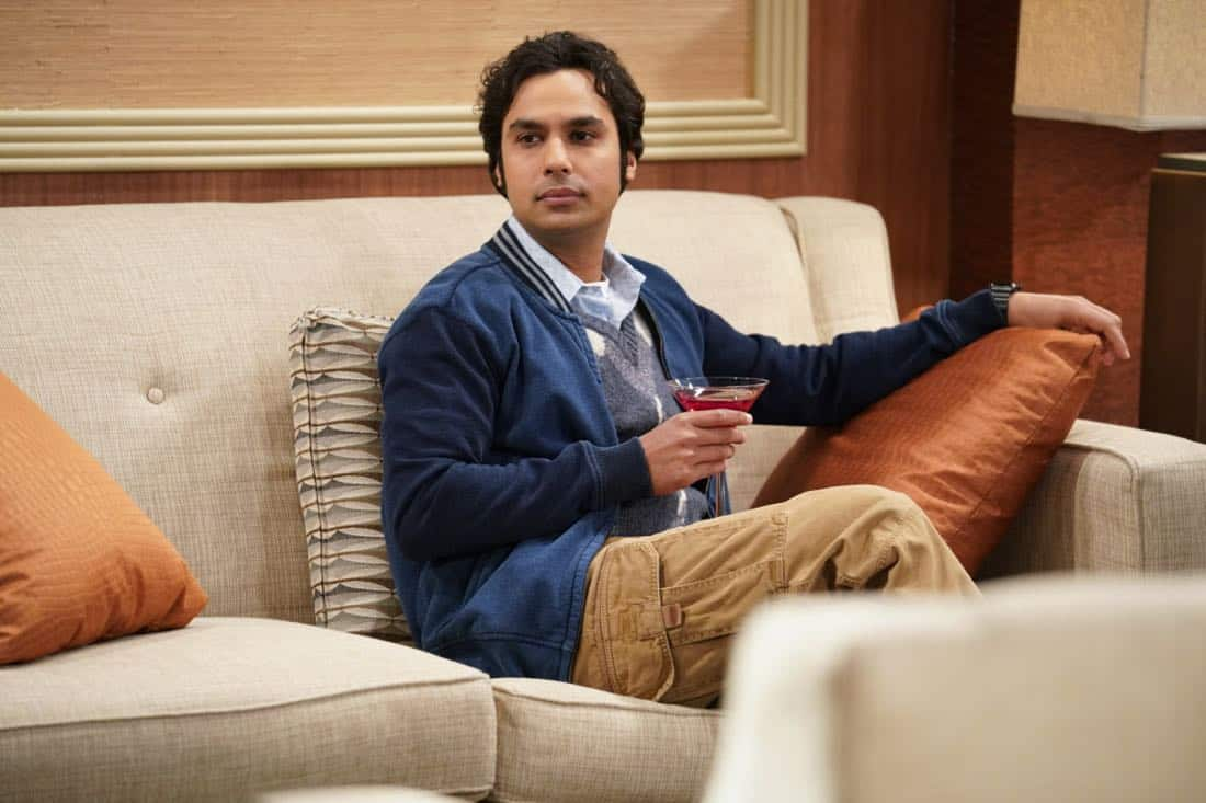 """The Gates Excitation"" - Pictured: Rajesh Koothrappali (Kunal Nayyar). Penny gets the opportunity to host Bill Gates at work when his company wants to partner with her pharmaceutical company. Also, Leonard, Koothrappali, and Wolowitz do everything in their power to meet him, while Sheldon thinks he is the victim of an April Fools prank, on THE BIG BANG THEORY, Thursday, March 29 (8:00-8:31 PM, ET/PT), on the CBS Television Network. Photo: Erik Voake/CBS ©2018 CBS Broadcasting, Inc. All Rights Reserved."