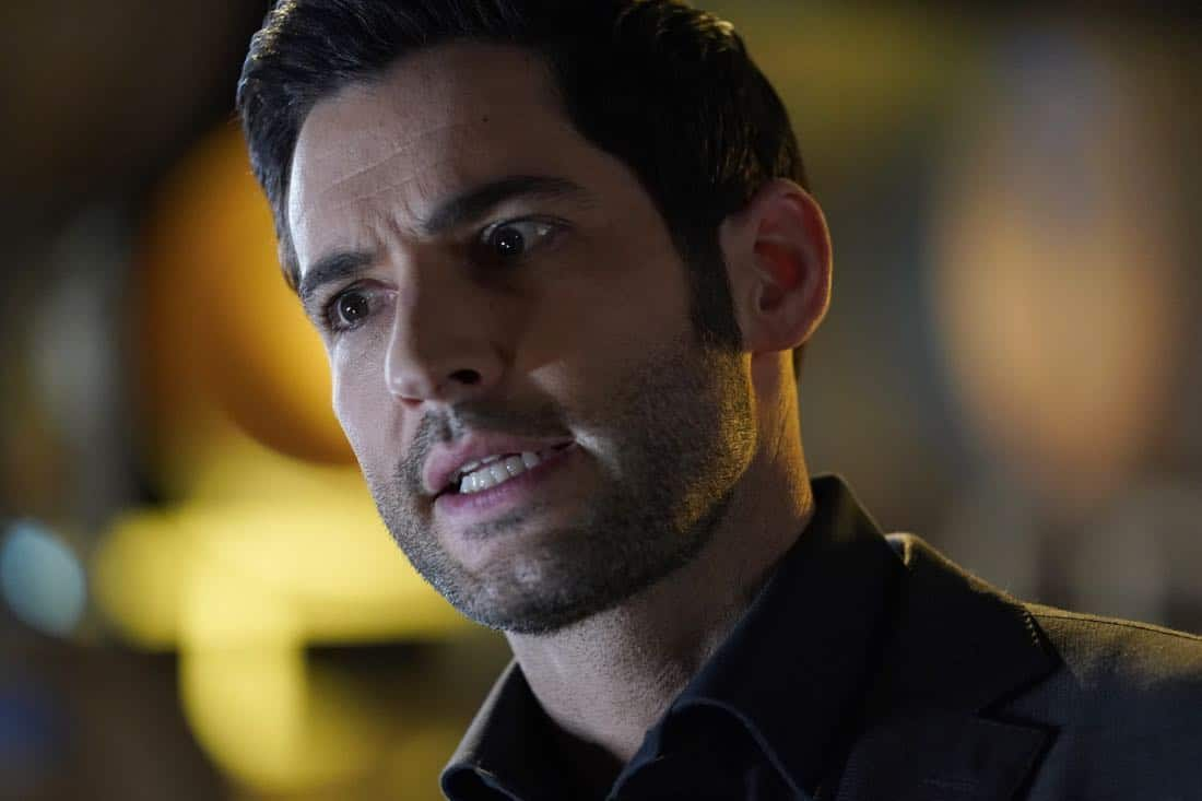 "LUCIFER: Tom Ellis in the ""Orange Is The New Maze"" episode of LUCIFER airing Monday, March 26 (8:00-9:00 PM ET/PT) on FOX. CR: Erik Voake/FOX"