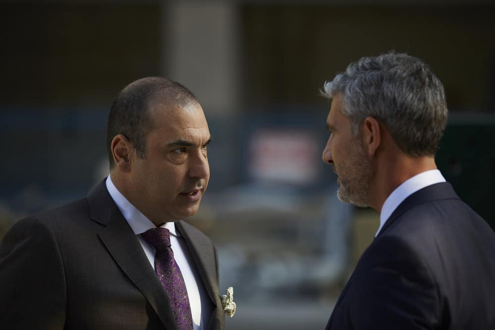 SUITS -- Episode 711 -- Pictured: Louis Litt as Rick Hoffman -- (Photo by: Shane Mahood/USA Network)