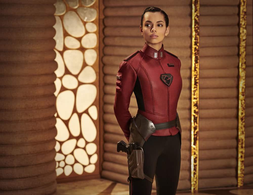 KRYPTON -- Season:1 -- Pictured: Georgina Campbell as Lyta-Zod -- (Photo by: Gavin Bond/Syfy)