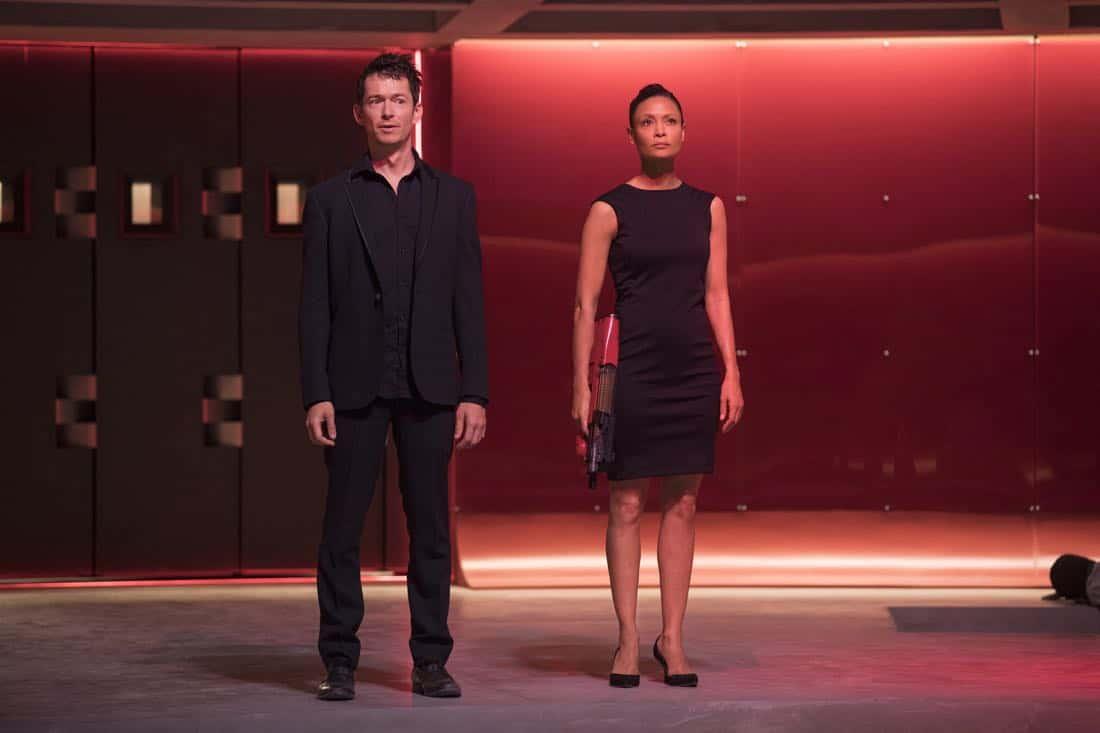pisode 11 (season 2, episode 1), debut 4/22/18: Simon Quarterman, Thandie Newton. photo: John P. Johnson/HBO