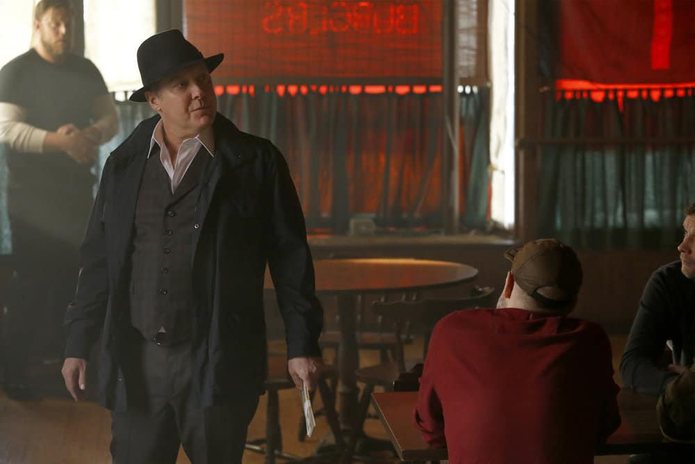 "THE BLACKLIST -- ""Anna-Gracia Duerte (#25)"" Episode 517 -- Pictured: James Spader as Raymond ""Red"" Reddington -- (Photo by: Will Hart/NBC)"
