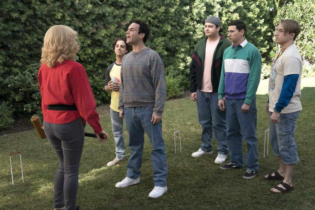 "THE GOLDBERGS - ""Colors"" - Barry enlists the JTP to help him break up Beverly's group of friends so Barry can have all the attention but soon realizes he made a major mistake when Beverly gets into a fight with her friends. Meanwhile, Adam's attempts to trick Murray into loving theater backfire, on ""The Goldbergs,"" WEDNESDAY, MARCH 28 (8:00-8:30 p.m. EDT), on The ABC Television Network. (ABC/Byron Cohen) MATT BUSH, TROY GENTILE, NOAH MUNCK, SAM LERNER, SHAYNE TOPP"