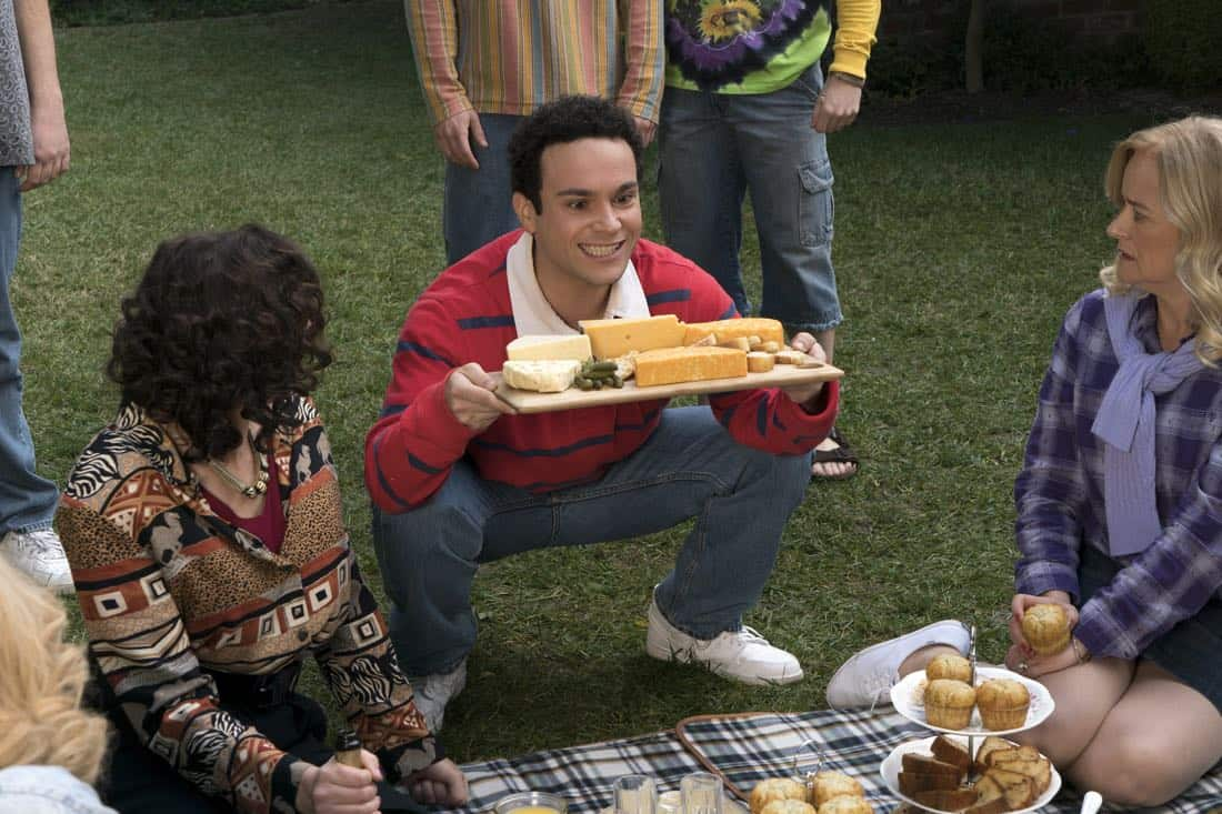 "THE GOLDBERGS - ""Colors"" - Barry enlists the JTP to help him break up Beverly's group of friends so Barry can have all the attention but soon realizes he made a major mistake when Beverly gets into a fight with her friends. Meanwhile, Adam's attempts to trick Murray into loving theater backfire, on ""The Goldbergs,"" WEDNESDAY, MARCH 28 (8:00-8:30 p.m. EDT), on The ABC Television Network. (ABC/Byron Cohen) TROY GENTILE, JENNIFER IRWIN"