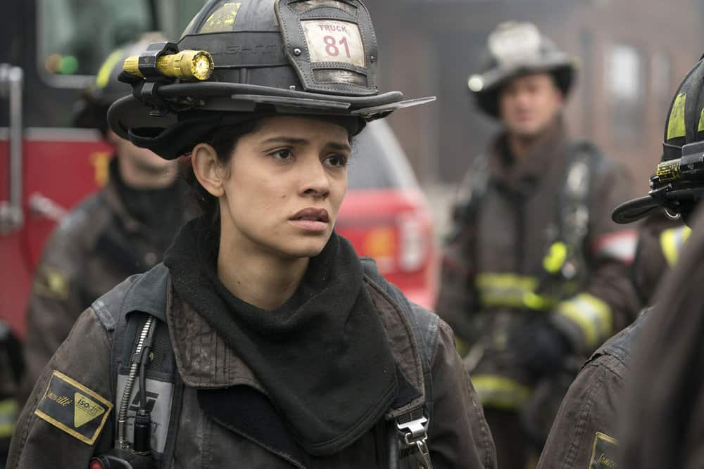 "CHICAGO FIRE -- ""The Chance To Forgive"" Episode 615 -- Pictured: Miranda Rae Mayo as Stella Kidd -- (Photo by: Elizabeth Morris/NBC)"