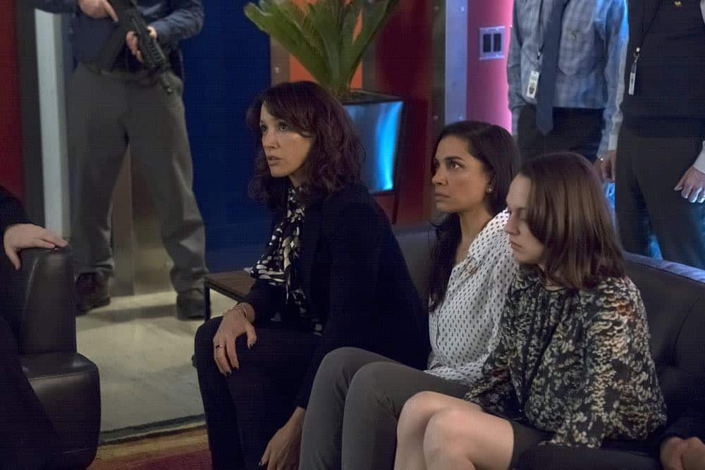 "TAKEN -- ""Verum Nocet"" Episode 209 -- Pictured: Jennifer Beals as Christina Hart -- (Photo by: Panagiotis Pantazidis/NBC)"