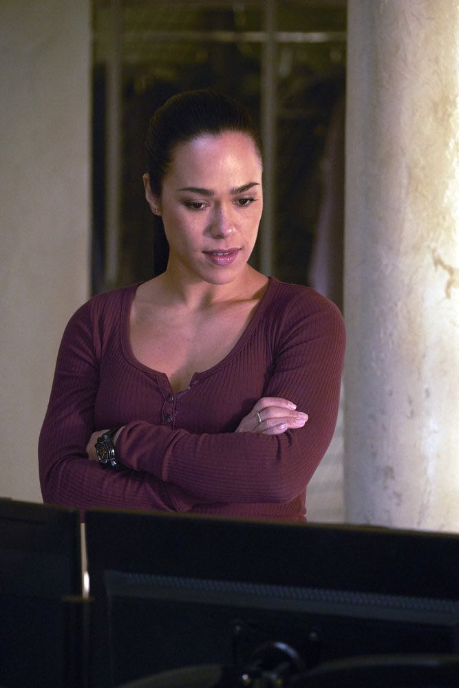 "TAKEN -- ""Verum Nocet"" Episode 209 -- Pictured: Jessica Camacho as Santana -- (Photo by: Christos Kalohoridis/NBC)"