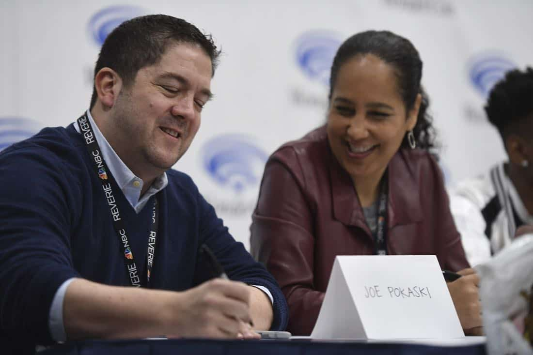 "MARVEL'S CLOAK & DAGGER - The executive producers and cast of Freeform's highly-anticipated new original series ""Marvel's Cloak & Dagger"" attended WonderCon to promote the June 7th premiere. (Freeform/Aaron Poole) JOE POKASKI (EXECUTIVE PRODUCER), GINA PRINCE-BYTHEWOOD (DIRECTOR)"