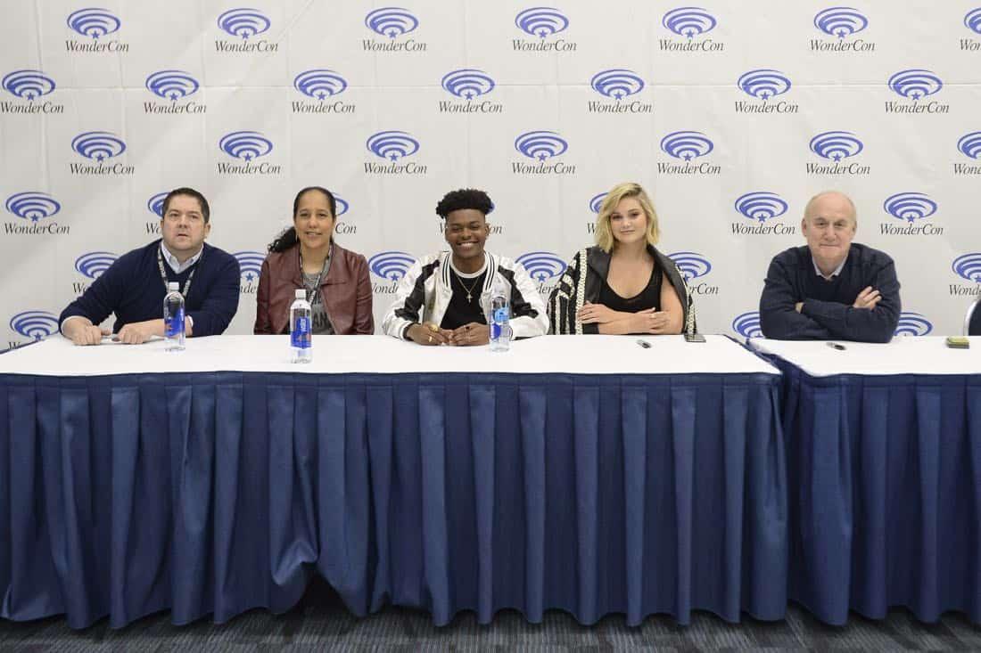 "MARVEL'S CLOAK & DAGGER - The executive producers and cast of Freeform's highly-anticipated new original series ""Marvel's Cloak & Dagger"" attended WonderCon to promote the June 7th premiere. (Freeform/Aaron Poole) JOE POKASKI (EXECUTIVE PRODUCER), GINA PRINCE-BYTHEWOOD (DIRECTOR), GINA PRINCE-BYTHEWOOD (DIRECTOR), AUBREY JOSEPH, OLIVIA HOLT, JEPH LOEB (EXECUTIVE PRODUCER/HEAD OF MARVEL TELEVISION)"
