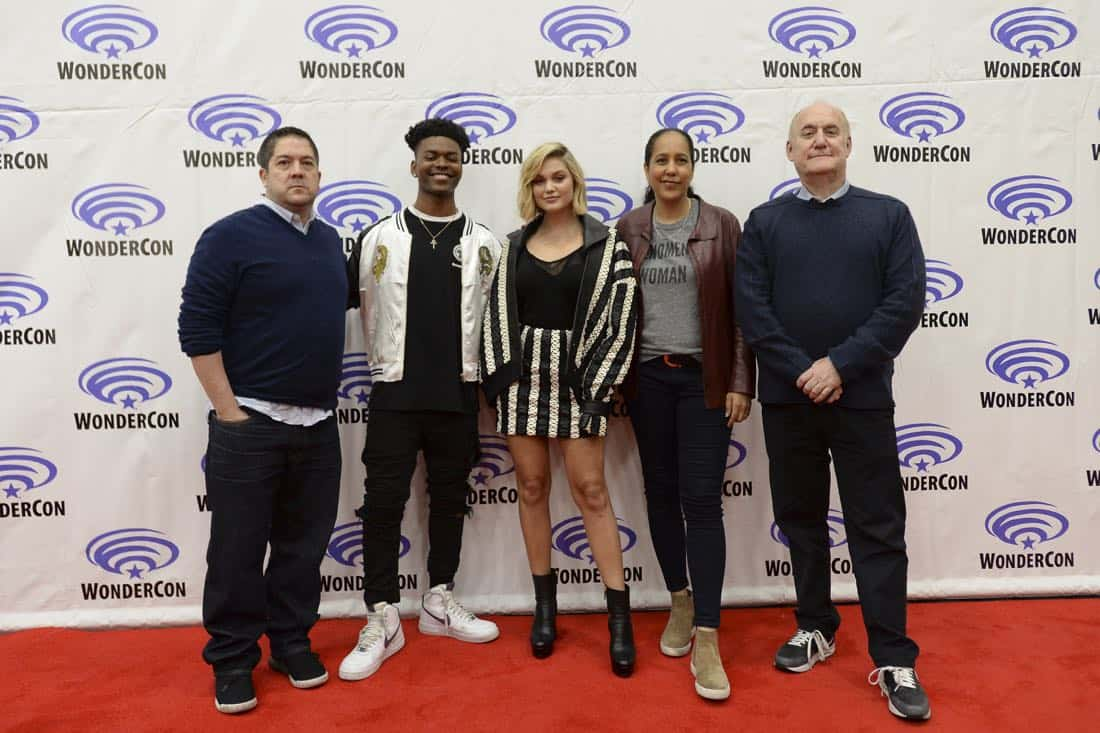 "MARVEL'S CLOAK & DAGGER - The executive producers and cast of Freeform's highly-anticipated new original series ""Marvel's Cloak & Dagger"" attended WonderCon to promote the June 7th premiere. (Freeform/Aaron Poole) JOE POKASKI (EXECUTIVE PRODUCER), AUBREY JOSEPH, OLIVIA HOLT, GINA PRINCE-BYTHEWOOD (DIRECTOR), JEPH LOEB (EXECUTIVE PRODUCER/HEAD OF MARVEL TELEVISION)"