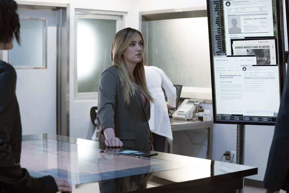 "BLINDSPOT -- ""Mum's The Word"" Episode 317 -- Pictured: Ashley Johnson as Patterson -- (Photo by: Virginia Sherwood/NBC)"