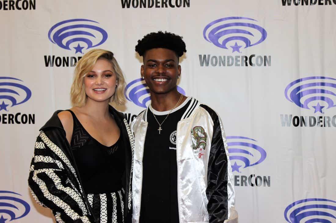 Olivia Holt Aubrey Joseph Cloak and Dagger WonderCon