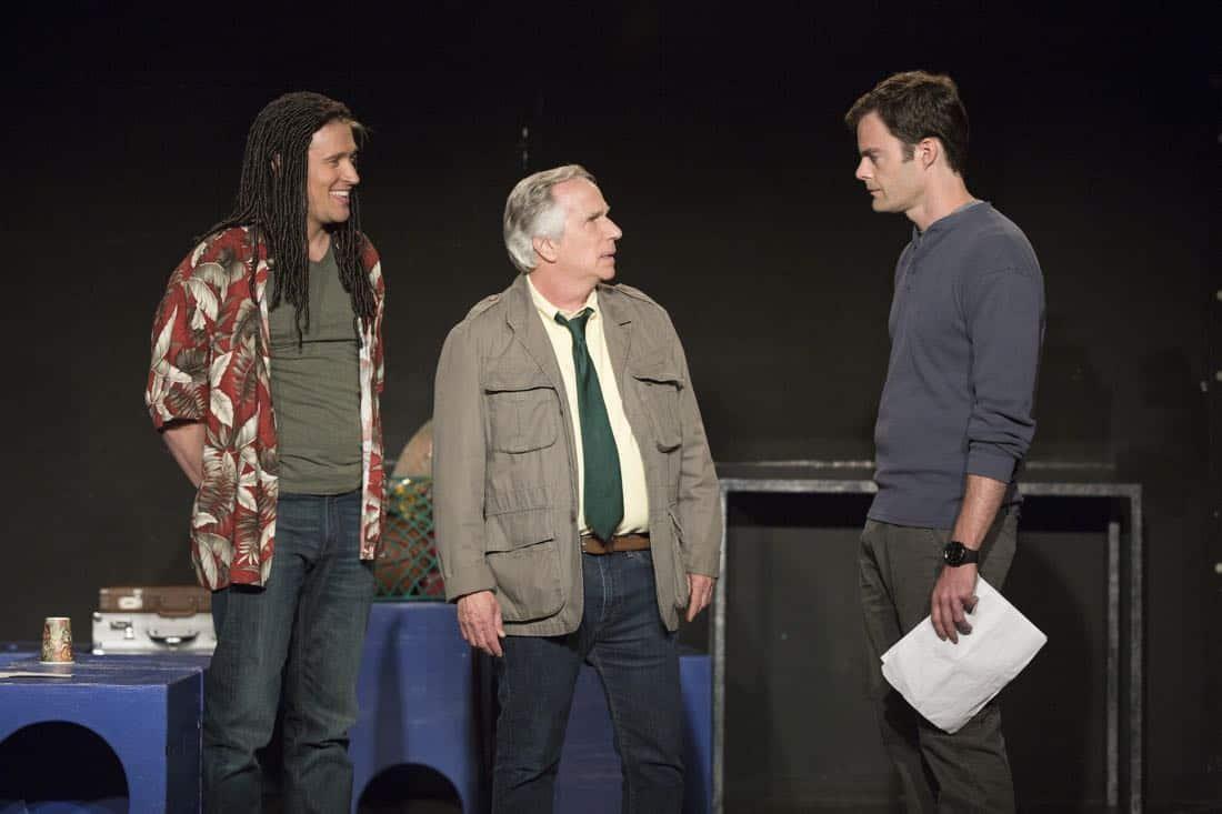 Barry Episode 1 Tyler Jacob Moore, Henry Winkler, Bill Hader. photo: Michele K. Short/HBO