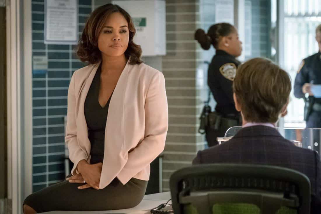 INSTINCT, a new drama starring Alan Cumming, Bojana Novakovic, Daniel Ings, Naveen Andrews and Sharon Leal, premieres Sunday, March 18 (8:00-9:00 PM, ET/PT) on the CBS Television Network. Alan Cumming stars as Dr. Dylan Reinhart, a gifted author, university professor and former CIA operative who is lured back to his old life by NYPD Detective Lizzie Needham (Bojana Novakovic) to help her stop a serial killer who is using Dylan's first book as a tutorial. Pictured Sharon Leal as Lt. Jasmine Gooden Photo: Jeff Neumann/CBS © 2017 CBS Broadcasting Inc. All Rights Reserved.
