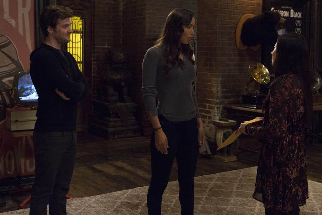"""DECEPTION - """"Divination"""" - When a psychic is murdered, Kay and Cam investigate only to learn she had a partner who's now on the run. Enlisting her help, Cameron and the team take down an international arms dealer, on """"Deception,"""" airing SUNDAY, APRIL 1 (10:01-11:00 p.m. EDT), on The ABC Television Network. (ABC/Giovanni Rufino) JACK CUTMORE, ILFENESH HADERA, CHRISTINE KO"""
