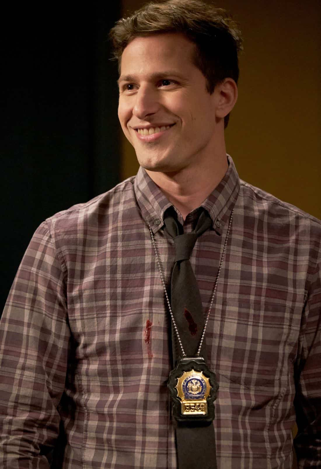 "BROOKLYN NINE-NINE: Andy Samberg in the ""The Box"" episode of BROOKLYN NINE-NINE airing Sunday, April 1 (8:30-9:00 PM ET/PT) on FOX. CR: FOX"