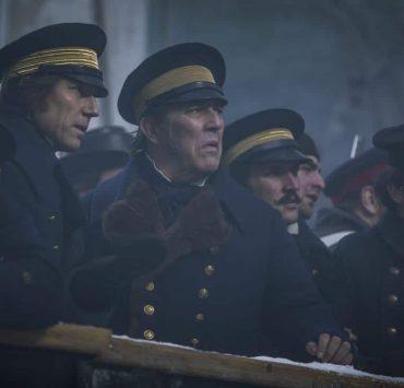 Ciarán Hinds as John Franklin, Tobias Menzies as James Fitzjames- The Terror _ Season 1, Episode 2 - Photo Credit: Aidan Monaghan/AMC