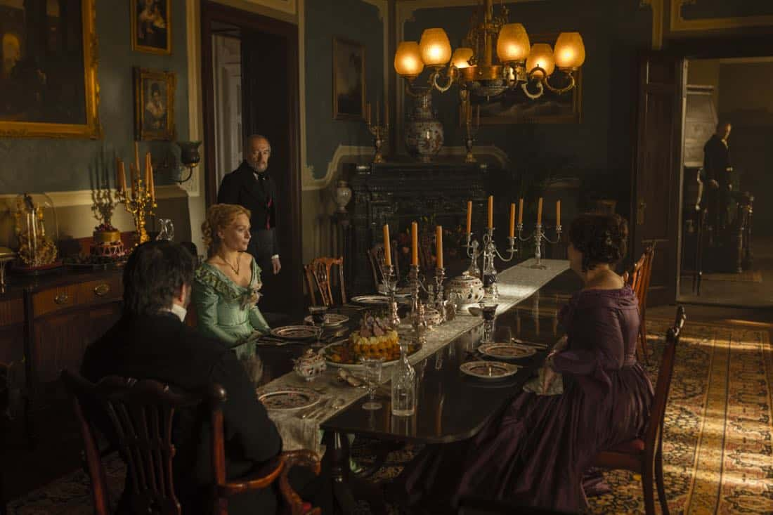 Ciarán Hinds as John Franklin, Greta Scacchi as Lady Jane Franklin, Sian Brooke as Sophia Craycroft, Jared Harris as Francis Crozier - The Terror _ Season 1, Episode 2 - Photo Credit: Aidan Monaghan/AMC