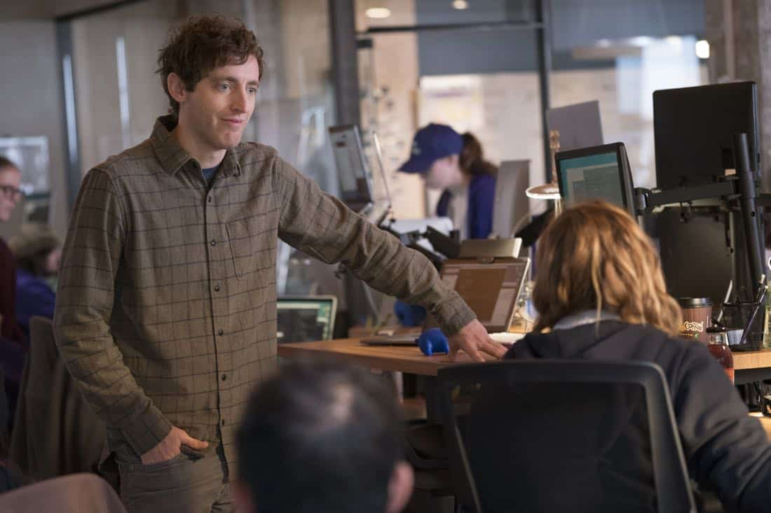 Episode 40 (season 5, episode 2), debut 4/1/18: Thomas Middleditch. photo: Ali Paige Goldstein/HBO