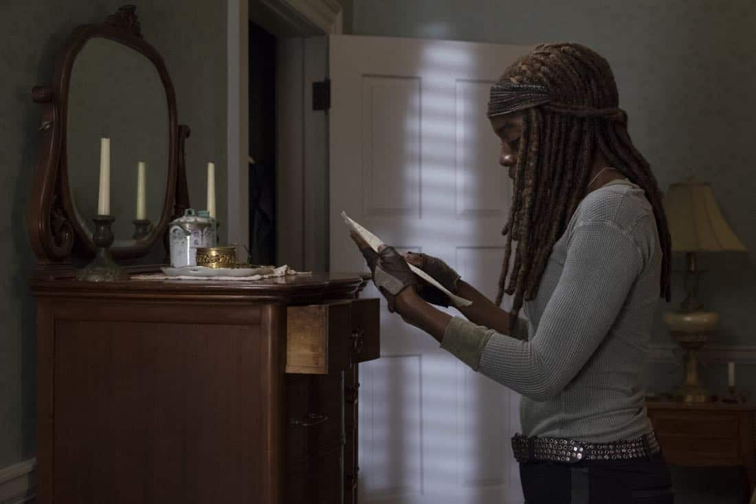 Danai Gurira as Michonne - The Walking Dead _ Season 8, Episode 14 - Photo Credit: Gene Page/AMC