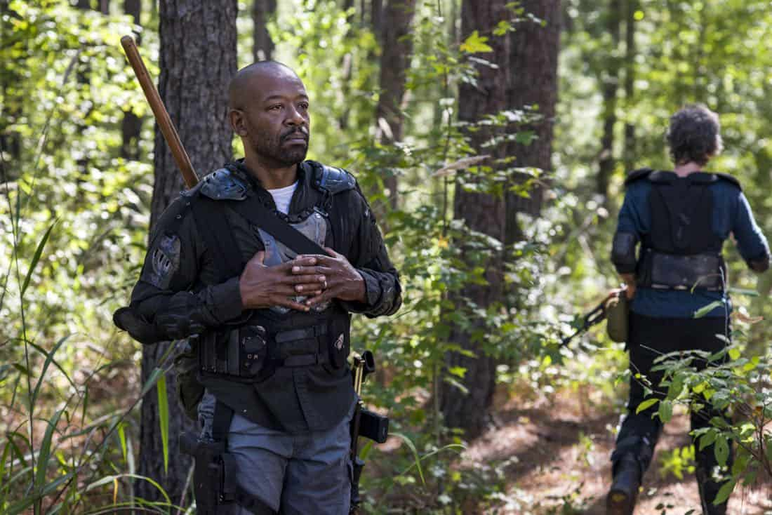 Melissa McBride as Carol Peletier, Lennie James as Morgan Jones - The Walking Dead _ Season 8, Episode 14 - Photo Credit: Gene Page/AMC