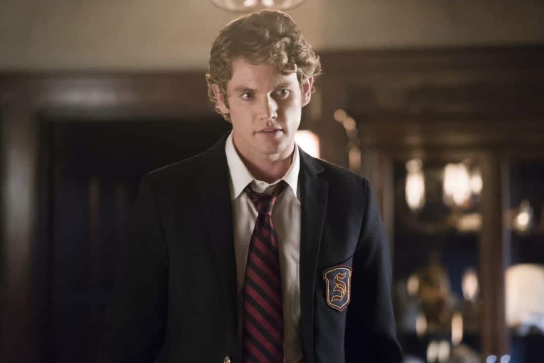 """The Originals -- """"Where You Left Your Heart"""" -- Image Number: OR501b_0125.jpg -- Pictured: Jedidiah Goodacre as Roman -- Photo: Annette Brown/The CW -- © 2018 The CW Network, LLC. All rights reserved."""