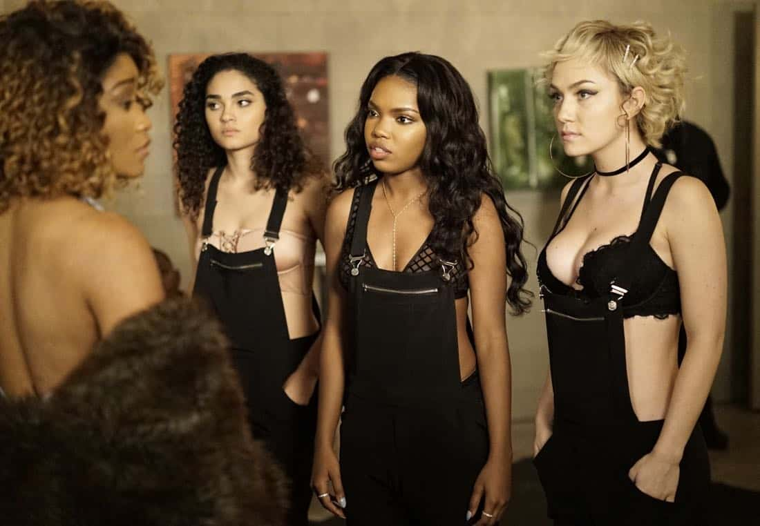 "STAR: Pictured L-R: Guest star Keke Palmer, Brittany O'Grady, Ryan Destiny and Jude Demorest in the ""Rise from the Ashes "" Spring premiere episode of STAR airing Wednesday, March 28 (9:00-10:00 PM ET/PT) on FOX. ©2018 Fox Broadcasting Co. CR: Jace Downs/FOX"