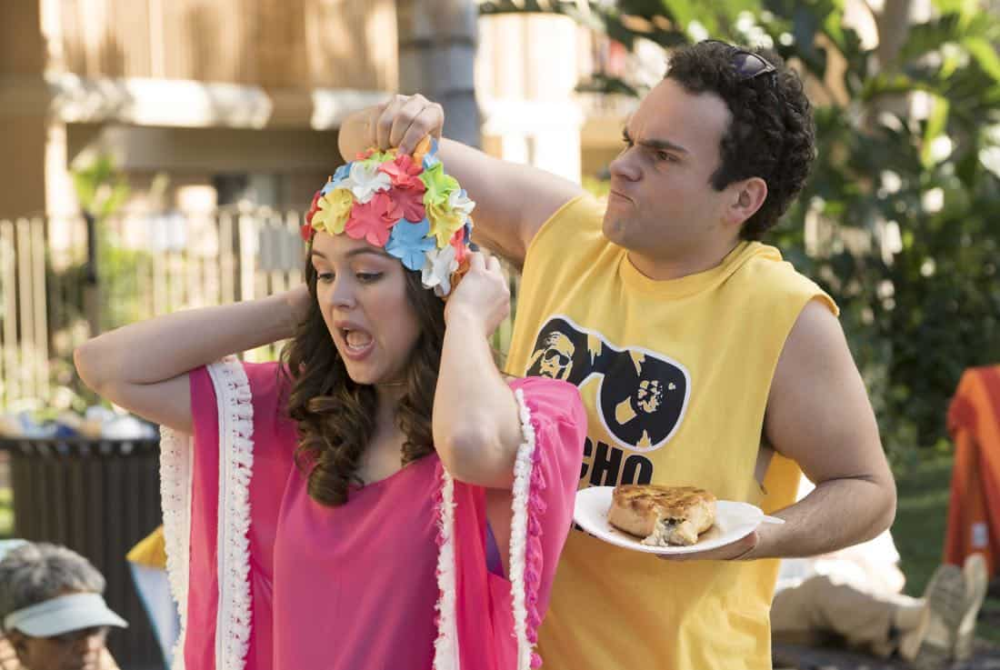 "THE GOLDBERGS - ""MTV Spring Break"" - Hoping to get the true spring break experience, Erica and Barry visit Pops in Florida, yet it's nothing how they expected. Meanwhile, Adam tells the truth to Beverly and Murray but then gets a surprising reaction, on ""The Goldbergs,"" WEDNESDAY, APRIL 4 (8:00-8:30 p.m. EDT), on The ABC Television Network. (ABC/Ron Tom) HAYLEY ORRANTIA, TROY GENTILE"
