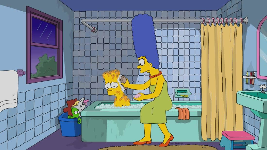 "THE SIMPSONS: Bart goes to prankster rehab after a clown-mask prank terrifies the town and destroys Krusty's career. A tortured Krusty then tries his hand at serious drama with a regional theater company in the all-new ""Fears of a Clown"" episode of THE SIMPSONS airing Sunday, April 1 (8:00-8:30 PM ET/PT) on FOX. THE SIMPSONS ™ and © 2017 TCFFC ALL RIGHTS RESERVED."