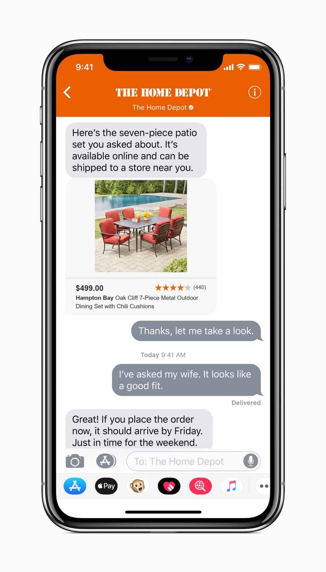 iOS 11.3 Business HomeDepot screen 03292018