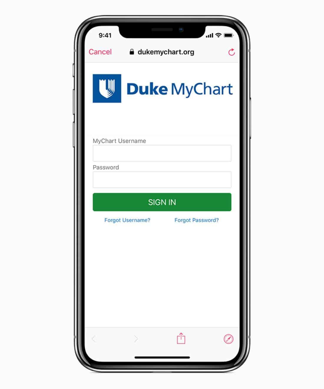 iOS 11.3 health provider signin screen 03292018