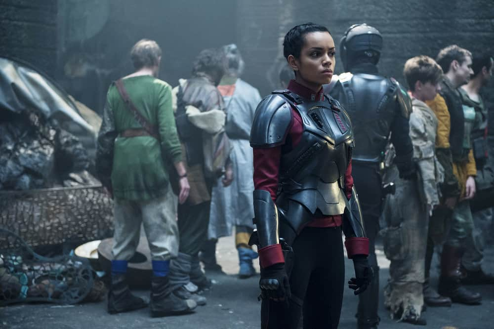 "KRYPTON -- ""The Rankless Initiative"" Episode 103 -- Pictured: Georgina Campbell as Lyta-Zod -- (Photo by: Steffan Hill/Syfy)"