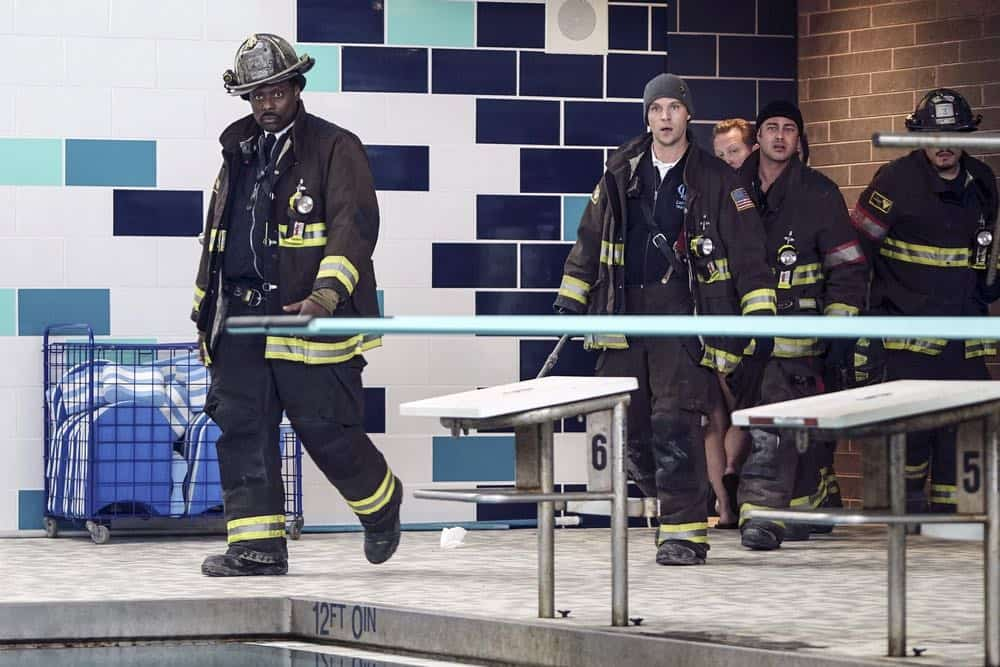 """CHICAGO FIRE -- """"Put White On Me"""" Episode 617 -- Pictured: (l-r) Eamonn Walker as Wallace Boden, Jesse Spencer as Matthew Casey, Taylor Kinney as Kelly Severide -- (Photo by: Elizabeth Morris/NBC)"""