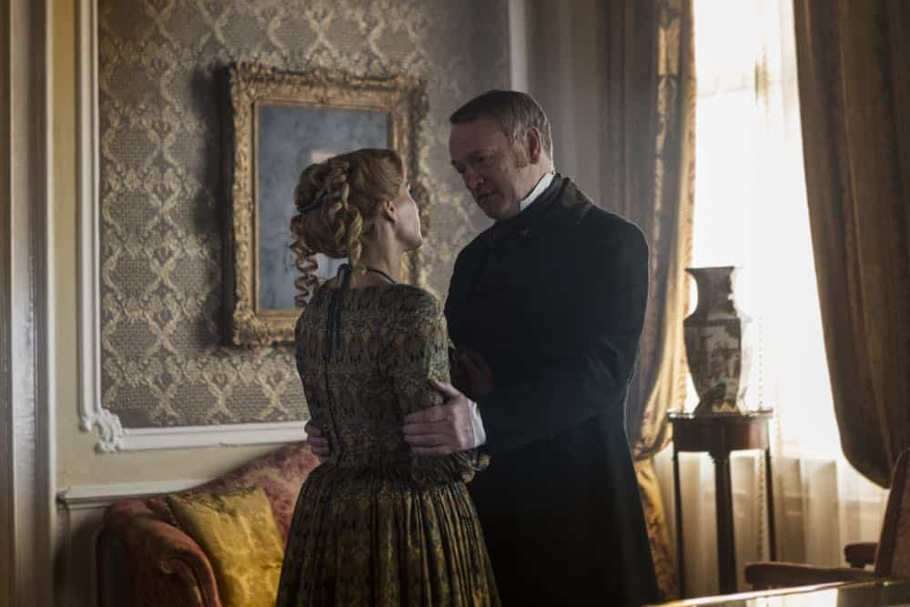 Jared Harris as Francis Crozier, Sian Brooke as Sophia Craycroft - The Terror _ Season 1, Episode 4 - Photo Credit: Aidan Monaghan/AMC