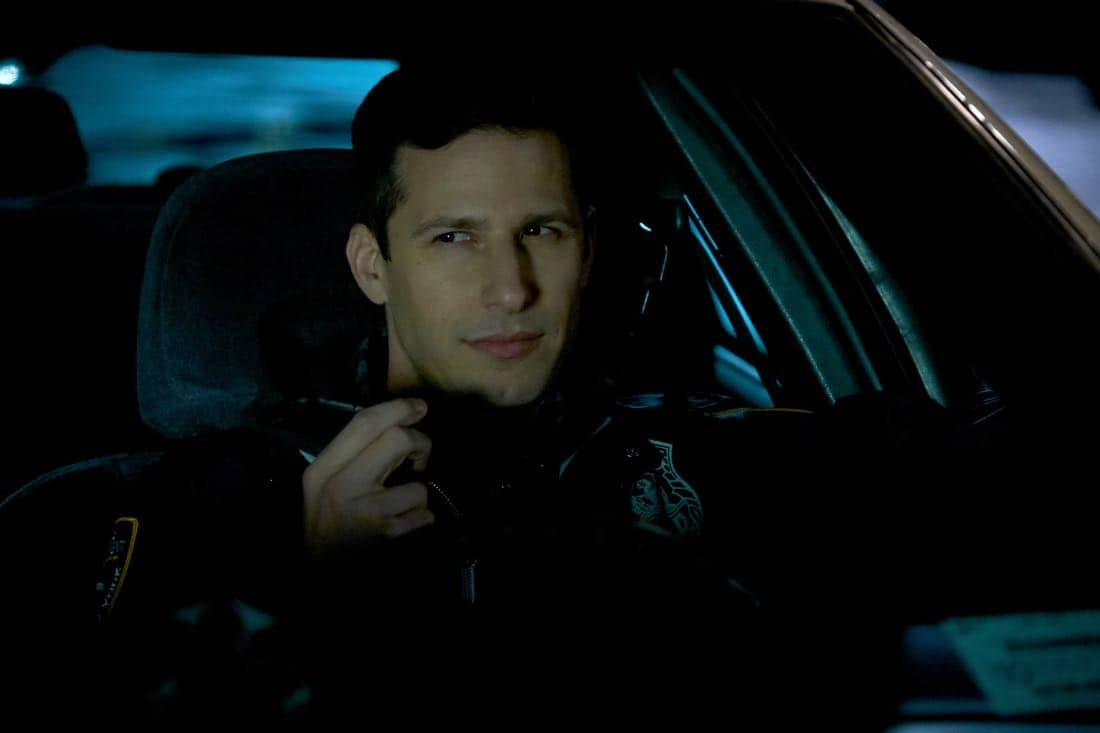 "BROOKLYN NINE-NINE: Andy Samberg in the ""The Puzzle Master"" episode of BROOKLYN NINE-NINE airing Sunday, April 8 (8:30-9:00 PM ET/PT) on FOX. CR: FOX"